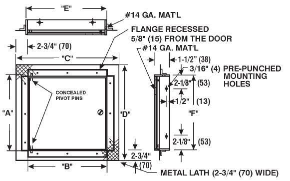 Model Cad Fl Pl1010 Cad Fl Pl Ceiling Or Wall Access