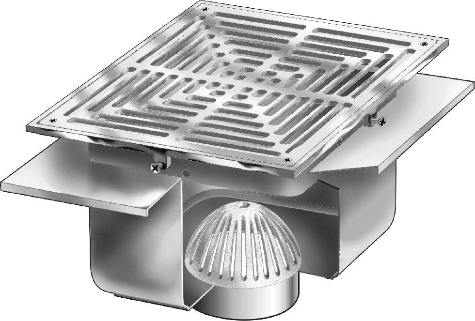 Fs1930 fl 12 x 12 x 8 deep stainless steel floor sink for 12 x 12 floor drain grate