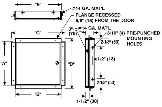 Model Cad Fr2230 Cad Fr Ceiling Or Wall Access Doors