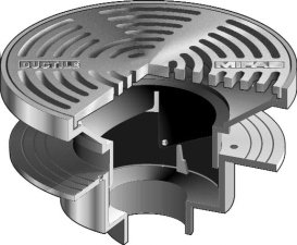 F1340 area drain with 12 round adjustable heavy duty for 12 x 12 floor drain grate