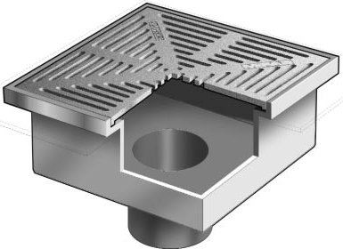 F1490 Fl Area Drain With 15 Quot Square Adjustable Heavy