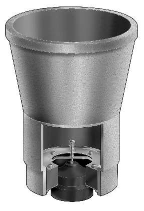 F1790 Indirect Waste Funnel With Backwater Valve Floor Areas