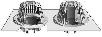 R1270 Series Combined Large Sump Roof Drains And