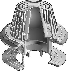 R1200 F Series Large Sump Roof Drains With Parabolic