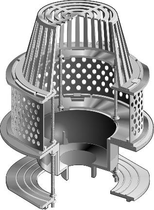 R1200 Jc Series Large Sump Roof Drains With Stainless