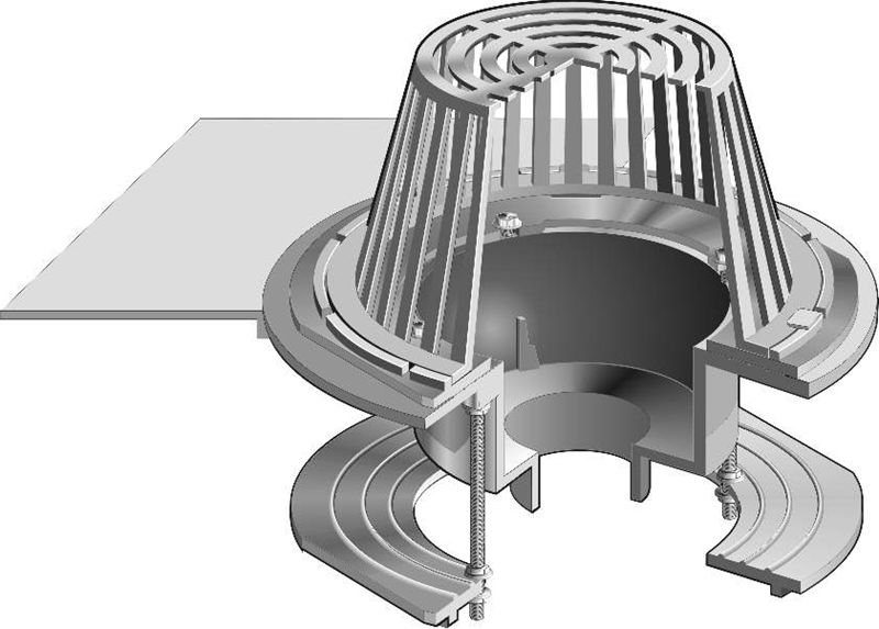 R1200 So Large Sump Dual Outlet Roof Drain