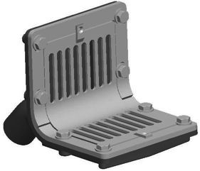 R1330 Series Scupper Drains With Flat Grate And 45
