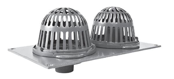 R150 Cast Iron Combined Roof Drains With Aluminum Domes