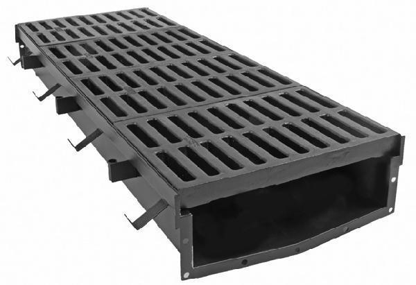 T2170 17 Quot Wide Presloped Fabricated Steel Trench Drain