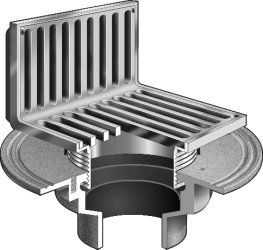 F1100 As Floor Drain With Angle Strainer For Non