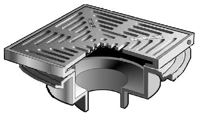 F1440 y q floor drain with 12 square non adjustable for 12 x 12 floor drain grate