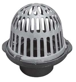 R100 M   Cast Iron Roof Drains With Aluminum Dome