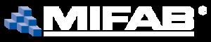mifab logo with blue blocks