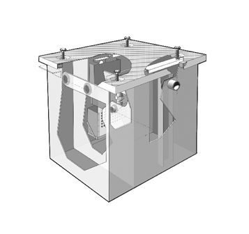 MI-E-O-HU Electronic Oil Interceptor C/W Integral Holding Tank