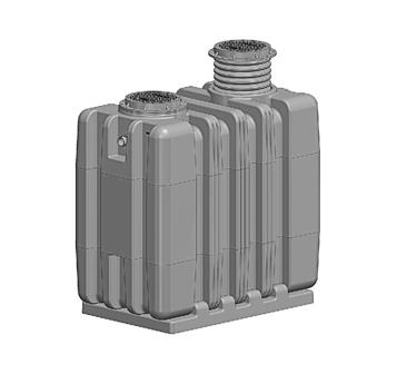 SUPER-2000-O SUPER MAX HDPE Oil Interceptor