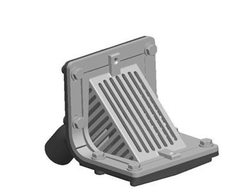 R1310 Scupper Drain with Angle Grate and No Hub Outlet