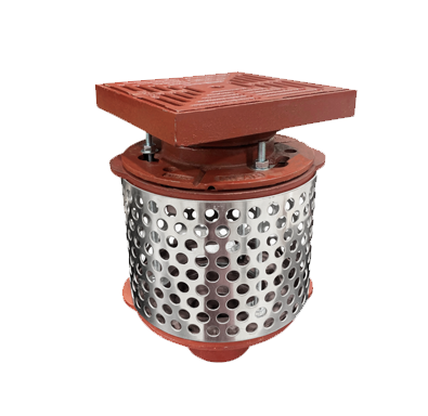 R1100-PJ Small Promenade Deck Drain with Stainless Steel Ballast Guard