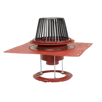 R1200-BUV Large Sump Roof Drain with Fixed Extension, Sump Receiver and Deck Clamp