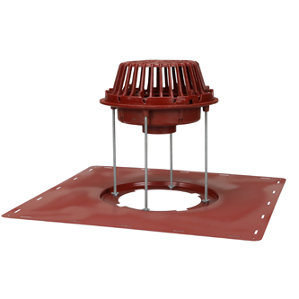 R1200-JD-STR Large Sump Roof Drain with Extension Hardware and Sump Pan- New or Replacement