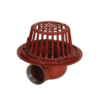 R1200-90 Large Sump Roof Drain with Side Outlet