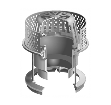 R1220-G Medium Sump Roof Drain with Stainless Steel Ballast Guard for IRMA Roofs
