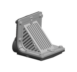 R1300T Scupper Drain with Angle Grate and Threaded Outlet