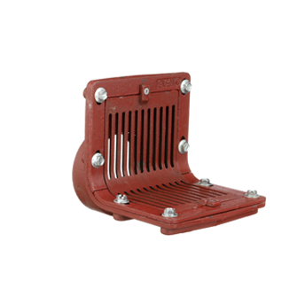 R1320T Scupper Drain with Flat Grate and Threaded Outlet