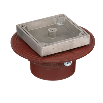 C1100-US Floor Cleanout for Terrazzo Areas with Adjustable Cover and Plug