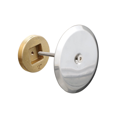 C1430-RD Stainless Steel Smooth Access Cover with Bronze Cleanout Plug and Screw