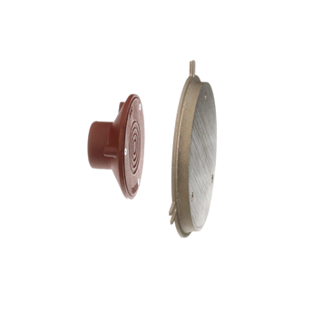 C1450-R Line Cleanout with Round, Nickel Bronze Wall Access Panel