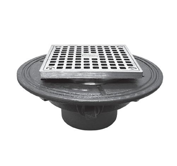 F100-S Square Adjustable Floor Drain with Flange