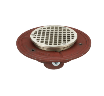 F100 Round Adjustable Floor Drain with Flange