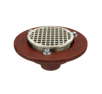 F100-C Round Adjustable Floor Drain with Flange and Clamp