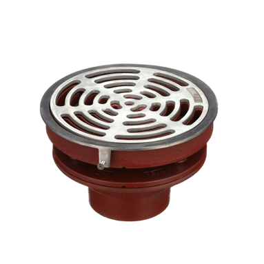 F1100-C-N Floor Drain with Tractor Grate
