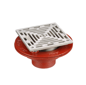 F1100-C-XS Square Floor Drain with Heavy Duty Strainer