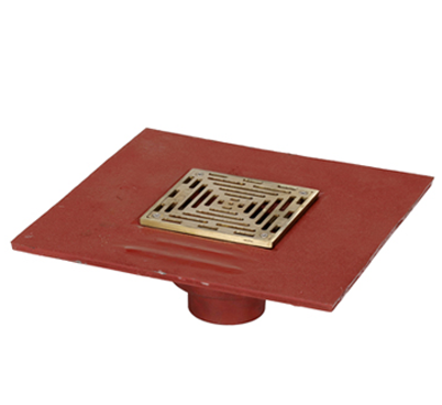 F1100-C-ZS Floor Drain with Square Strainer and Elastomeric Flange