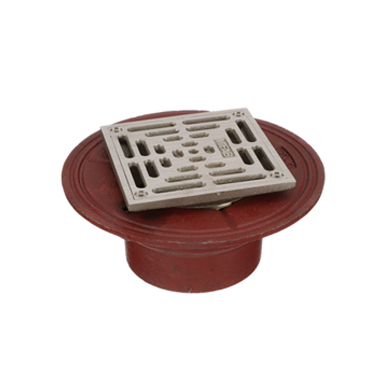 F1100-XS Square Floor Drain with Heavy Duty Strainer