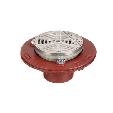 F1100-C-HG Floor Drain with Round Hinged Strainer
