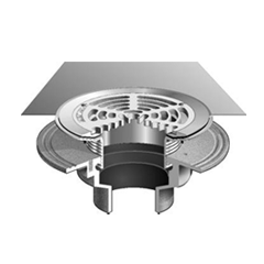 F1100-FC Floor Drain with Surface Membrane Clamp