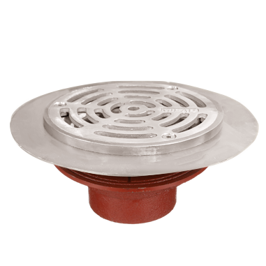 F1100-FT Floor Drain with Recessed Flange for Non Membrane Floor Areas