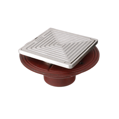 F1100-SD Floor Drain with Square Solid Hinged Cover