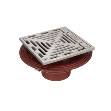F1100-SHG Floor Drain with Square Hinged Strainer
