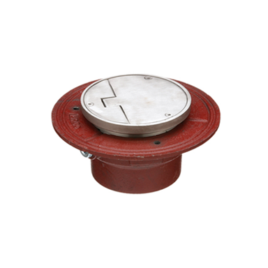 F1100-VD Floor Drain with Solid Hinged Round Cover