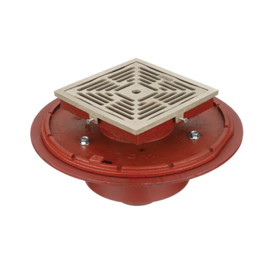 F1430C Drain with 8″ Adjustable Tractor Grate/Deep Sump