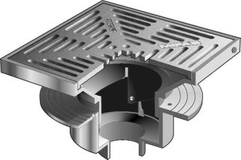 F1440 Drain with 12″ Adjustable Tractor Grate