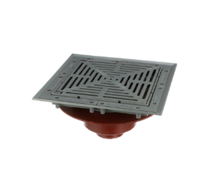F1510 Drain with 12″ Heavy Duty Tractor Grate/Deep Sump