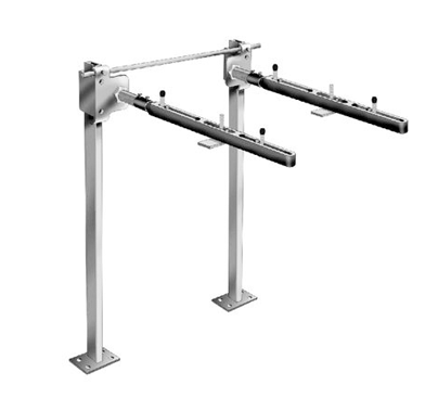 MC-42-R Single Carrier with Concealed Arms and Round Uprights for ADA