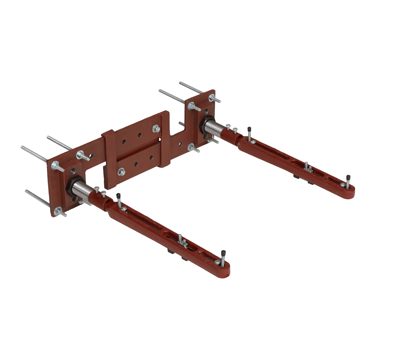 MC-53 Single Wall Mounted Support with Concealed Arms and Backing Plates