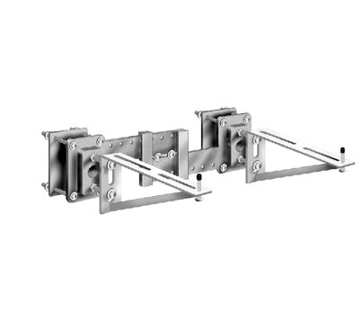 MC-55 Single Wall Mounted Lavatory Support with Exposed Arms and Backing Plates