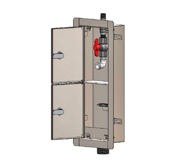 MI-DIAL-CB Compartmentalized Dialysis Supply & Waste Box